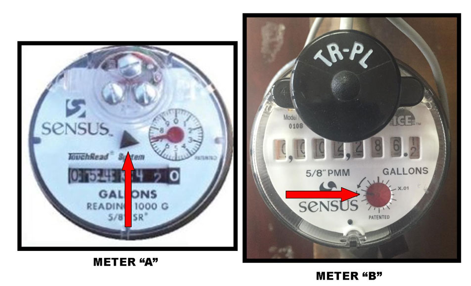Distinguishing between Sensus SR2 meter types