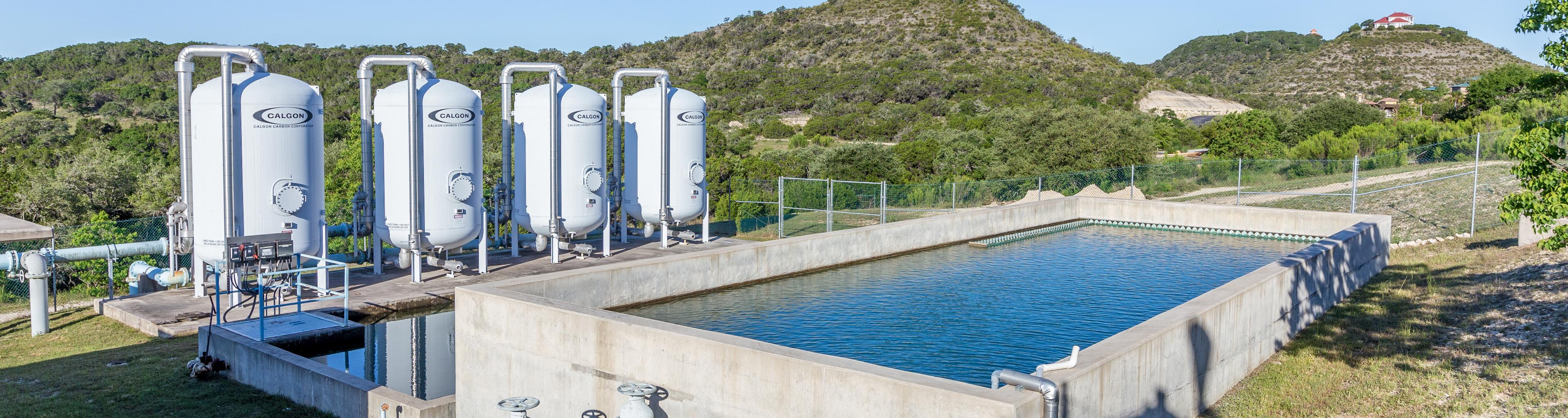 Backwash Lagoons and Pressure Filter Vessels